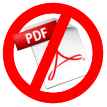PDF Logo crossed out